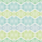 Linear seamless lace pattern in green shades — Stock Vector