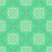 エメラルド グリーン、繊細なエレガントな線のパターン — ストックベクタ