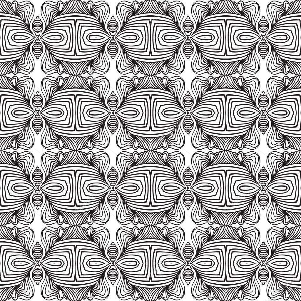 Linear art deco black and white pattern — Stock Vector © tukkki ...