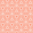 Bold soft cute pink romantic seamless vector pattern. — Stock Vector