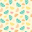 Pattern with butterflies of random size and color — Stock Vector