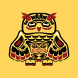 Vector de stock : North americnative art, owl