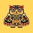 Wektor stockowy : North americnative art, owl