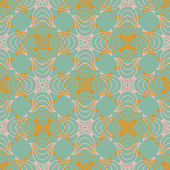 Victorian pattern in natural colors — Stock Vector