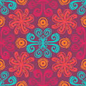 インドの花柄のパターン — ストックベクタ