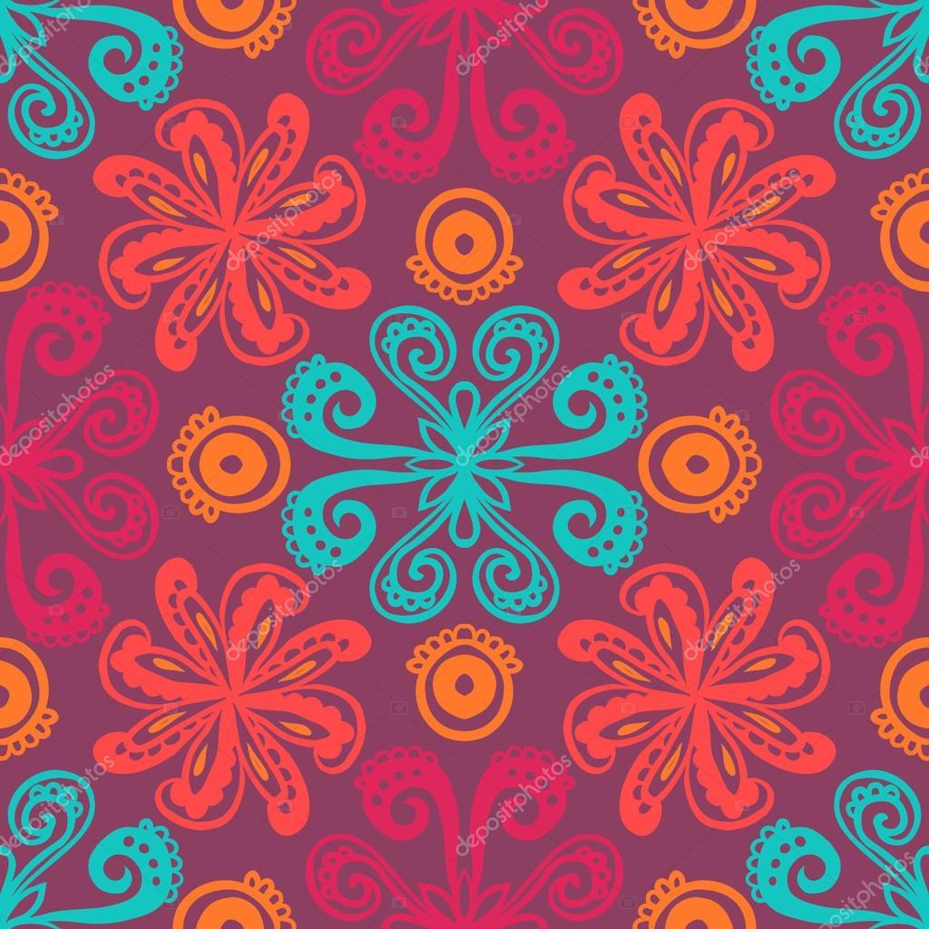 印度花卉图案