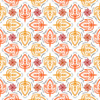 Fallen leaves, vector pattern - Stock Vector