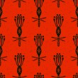 Pattern with bold flowers in African style — Vektorgrafik