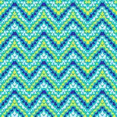 Chevron zig zag geometric pattern — Stock Vector