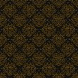 图库矢量图片: Vintage linear damask pattern with gold lines