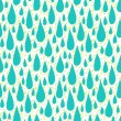 Pattern with rain drops in tropical colors — Stock Vector