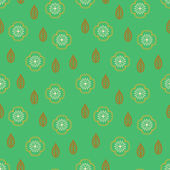Pattern with stylized sakura flowers — Stock Vector