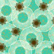 Floral seamless vector pattern in 50s style — Vector de stock