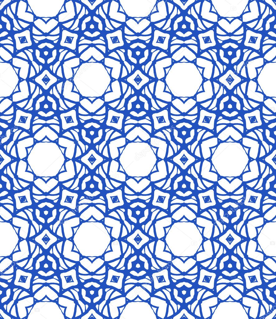 Vector pattern in royal blue and white. Texture for web, print ...