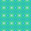 Pattern with geometric forms in mint green — Stock Vector