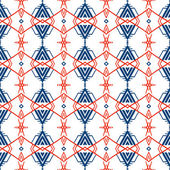 Geometric pattern with Scandinavian ethnic motifs — Stock Vector