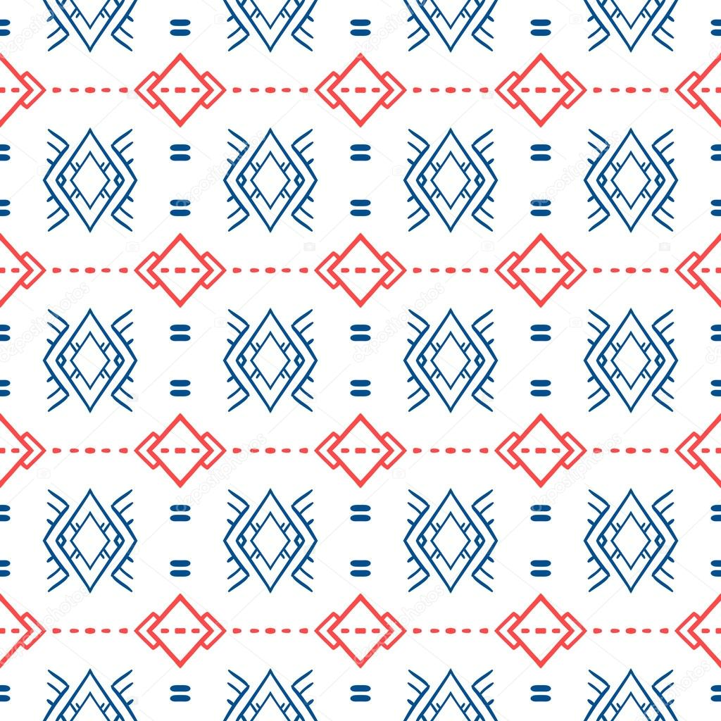 Geometric pattern with Scandinavian ethnic motifs — Stock ...