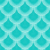 Pattern in art deco style in tropical aqua blue — Stock Vector