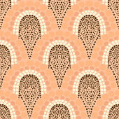 Geometric pattern in art deco style in soft colors — Stock Vector