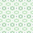 Pattern with Arabic motifs in cool mint green — Stock Vector