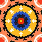 Suzani, vektor mönster med fet prydnad — Stockvektor