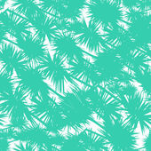 Seamless vector pattern with stylized palm leaves — Stock Vector
