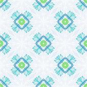 用细线中的程式化鲜花矢量花纹 — 图库矢量图片