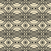 Pattern with thin black lines in art deco style — Stock Vector