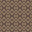 Pattern with dark lines on beige in art deco style — Stok Vektör