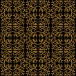 Linear pattern in baroque and rococo style — Imagen vectorial