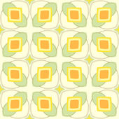 Pattern with geometric shapes in 1970s style. — Stock Vector