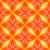 Pattern with bold geometric shapes in 1970s style — Stock Vector