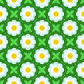 Pattern with bold stylized flowers in 1970s style — Stock Vector