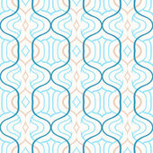 Vector simple Moroccan pattern in blue and white — Stock Vector