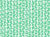 Pattern with vertical vines in aqua green color — Stock Vector