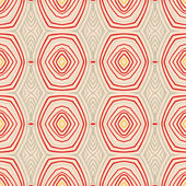 Retro pattern with oval shapes in 1950s style. — Stock Vector