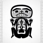 Modern stylization of Canadian native art, a man — Stock Vector #32027807