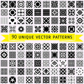 Set of ninety vector patterns — Stock Vector