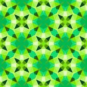 Multicolor geometric pattern in bright green. — Stock Vector