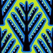 Ikat, vector ethnic pattern with Kazakh motifs — Stock Vector