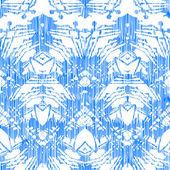 ручная роспись картина с дамасской и икат мотивы — Cтоковый вектор