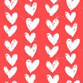 Vzorek je velentine den s rukou Malované srdce. — Stock vektor