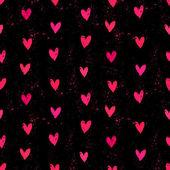 Velentine des Tages Muster mit Hand bemalt Herzen. — Stockvektor