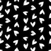 ヴァレンタインの日パターンの手で心を塗装. — ストックベクタ