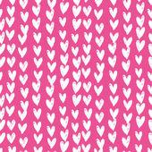 Του velentine ημέρα μοτίβο με χέρι βαμμένο καρδιές. — Διανυσματικό Αρχείο