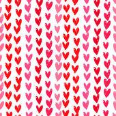 Velentine'nın gün desen el ile kalpleri boyalı. — Stok Vektör