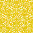 Art deco vector floral pattern in gold and white. — Stock Vector
