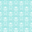 Art deco vector floral pattern in tropical blue — Stock Vector