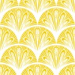 Art deco vector geometric pattern in bright yellow — Vector de stock