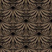 Art deco vector floral pattern — Stock Vector